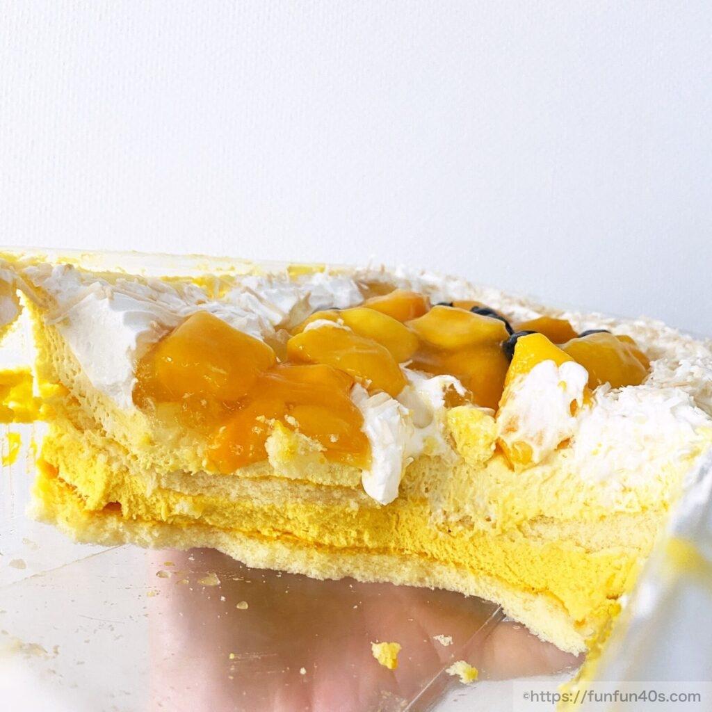 マンゴームーススコップケーキ